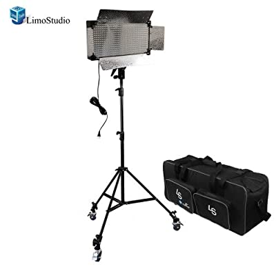 LimoStudio Dimmable 500 LED Photography Photo Video light Panel LED lighting Kit with 3pcs Caster Wheels for Photo Video Studio, AGG1223 from Limostudio
