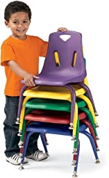 Berries 8122JC1119 Stacking Chair with Powder-Coated Legs, 12\