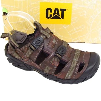 4022d0121 Mens Brown Caterpillar Equinox Leather Sandals Shoes: Amazon.co.uk: Shoes &  Bags