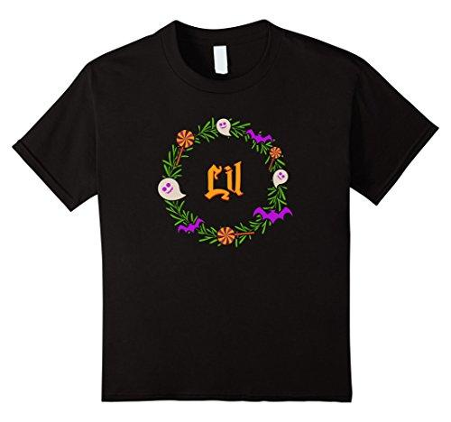 Lil Sister Child Costumes (Kids Halloween costume Lil little sister sorority tshirt 4 Black)