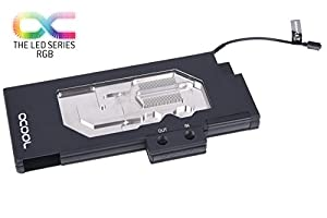 Alphacool Eisblock GPX-N GPU Waterblock for Nvidia Geforce GTX TITAN X Pascal/1080Ti, Model M02, Black/Plexi