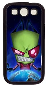 Alien Invader Zim PC Case Cover For Samsung Galaxy S3 SIII I9300 Black