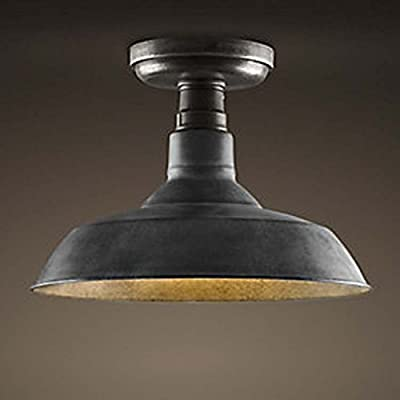 Ladiqi Antique Semi Flush Mount Ceiling Light Vintage Ceiling Light Fixture