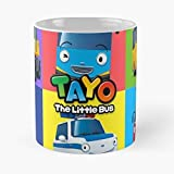 Tayo The Little Bus And Friend Frie -the Funny Coffee Mugs Novelty Halloween Gifts Ceramic Cup For Halloween, Holiday, Christmas Party Decoration 11 Ounce - White-efixstore.