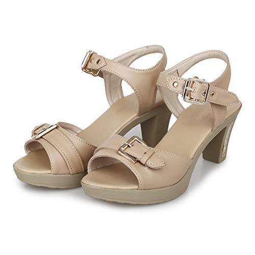 Arrière Slingback Femmes Talon Chaussure Haut Soirée Toe Plateforme Sandales Bride Kaki Boucle Chaussures Peep Femme Cheville Huatime FvAfqW