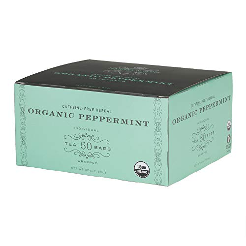 - Harney & Sons Organic Peppermint Tea 1.76oz/50g (50 Tea Bags)