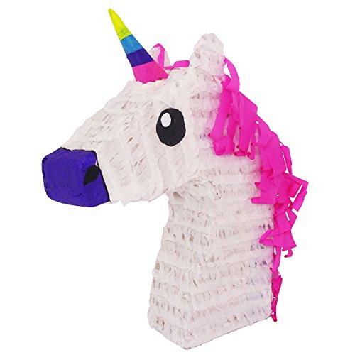 White Unicorn w/Pink Hair Pinata - Mexican Piñata - Handmade in Mexico for $<!--$29.99-->