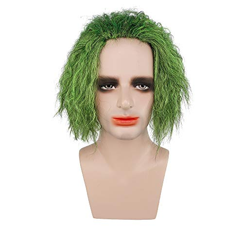 CrazyCatCos Batman Clown Wig The Joker Green Cosplay Wig Halloween Costume Wig]()