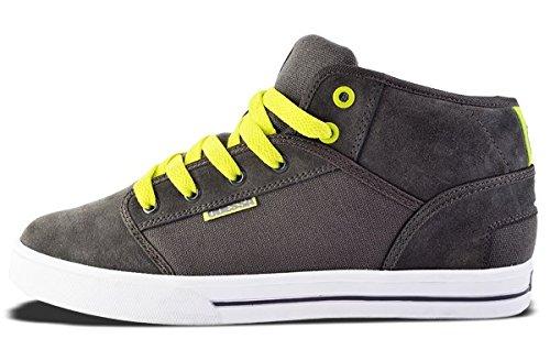Odessa Baskets Mixte hautes BMX/Skate Couleurs Gris/Vert Fluo Pointure EUR40/6UK/7US