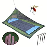OUTDOOR SKY Single Camping Mosquito Bug Net for Sleeping Camping Bed & Travel Compact and Lightweight