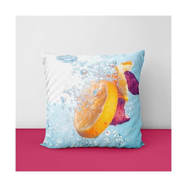 Lemon Square Design Printed Cushion Cover