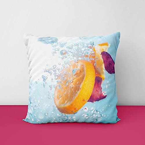 Lemon Square Design Printed Cushion Cover