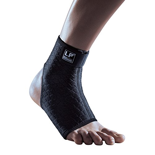 - LP SUPPORT 728CA Extreme Ankle Support - CoolPrene Breathable Compression Sleeve to Support and Protect Ankle (Black - L)