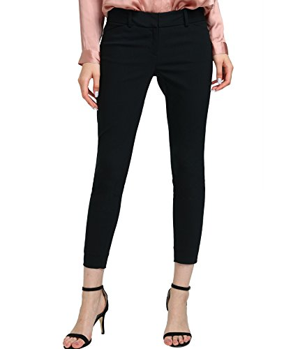 YTUIEKY Women's Straight-Leg Pant Stretchy Office Slimming Pants Super Comfy - Pants Cropped Dress