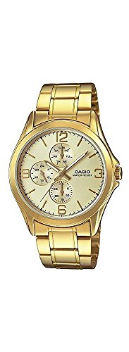 Dial Multifunction Gold (Casio MTP-V301G-9A Men's Standard Gold Tone Stainless Steel Multifunction Gold Dial Watch)