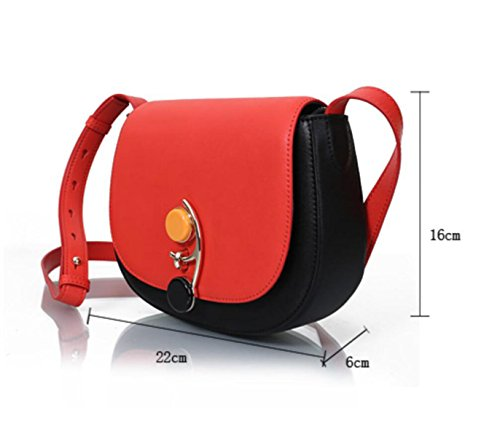 Bolso Crossbody GSHGA Para Mujer Bolso Redondo Pequeño Para Hombro Bolso Pequeño Bolsos De Cuero Simple,Beige brownwithblack