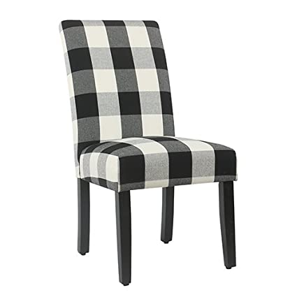 Pleasant Meadow Lane Black Plaid Parsons Dining Chair Set Of 2 Gmtry Best Dining Table And Chair Ideas Images Gmtryco