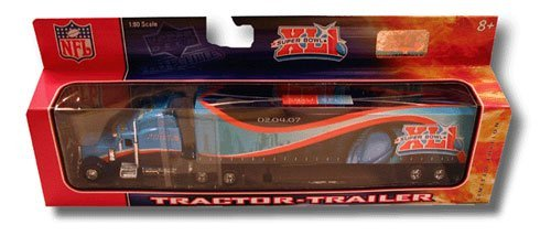 2007 Super Bowl XLI Colts vs. Bears NFL Limited Edition 1:80 Scale Diecast Collectible Tractor Trailer Tractor Trailer ()