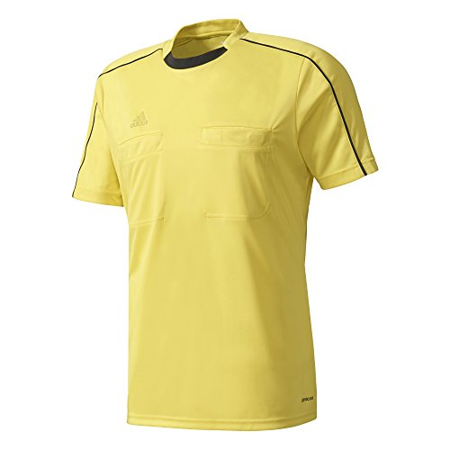 Adidas Mens Climacool Referee 16 Short-Sleeve Jersey Yellow Xl ()