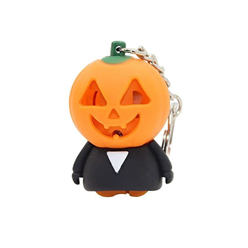 Halloween Keychain Pumpkin Ghost LED Sound Car Key Ring Holder Bag Pendant Gift for $<!--$0.66-->