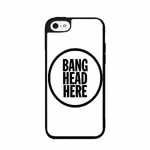 Bang race Head Here - 2-Piece Dual Layer High Impact Phone of Case Back Cover (iPhone experience 5/5s) nursing Kimberly Kurzendoerfer