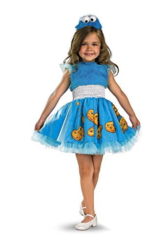 Frilly Cookie Monster Costume - Medium (Cookie Monster Girl Costumes)