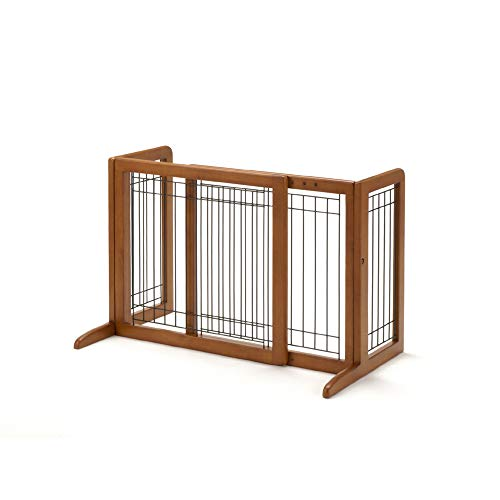 Richell 94135 Freestanding Pet Gate with Autumn Matte Finish, Small
