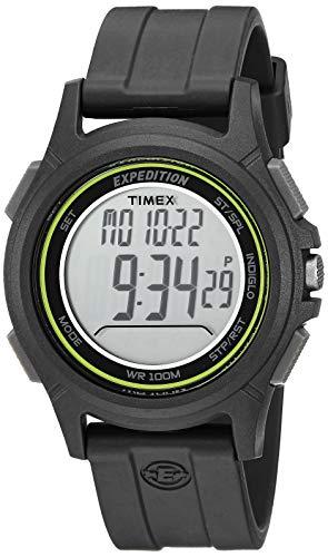 - Timex Men's TW4B12100 Expedition Baseline Digital CAT Black/Green Resin Strap Watch
