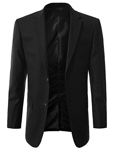 MONDAYSUIT Mens Premium Club Sport Coat BLACK Blazer Preppy Jacket - Mens Preppy Blazer