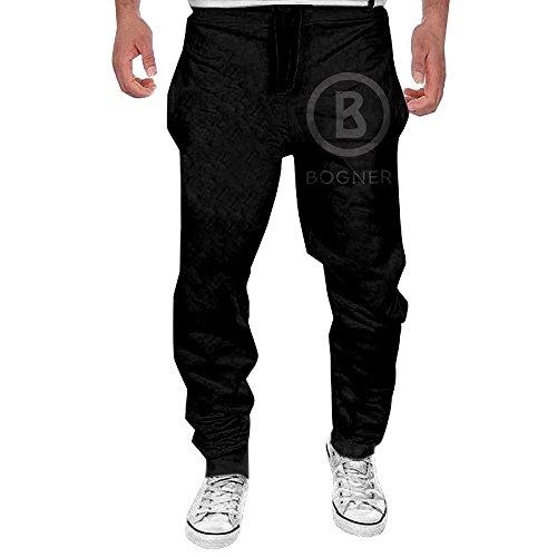 Price comparison product image FEFvxmM Men's Bogner Brand Logo Lightweight Sweatpants Cool Pants Black