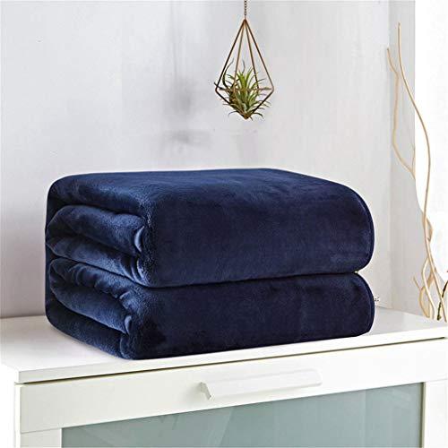 (WSI Blankets, Woollen Blanket Baby Double Thickened Flannel Short Plush Blanket Warm Blanket Autumn and Spring Sofa Travel 200230cm / Blue)