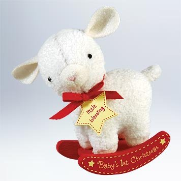Lamb Ornaments (Hallmark 2011 Baby's First Christmas Plush Lamb Keepsake Ornament)