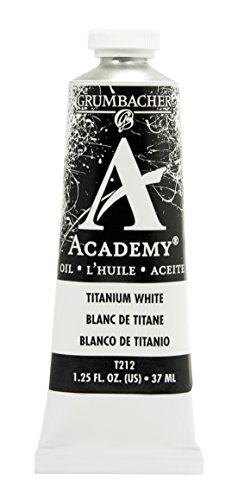Grumbacher Academy Oil Paint, 37 ml/1.25 oz, Titanium White