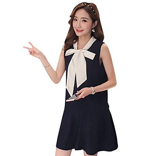 Vestito Donna Xfentech Senza Maniche Allattamento Blu Da All'aperto Navy Per Incinte drYAnAqW