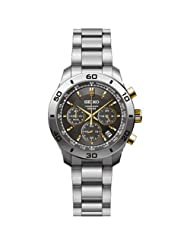 Seiko Chronograph Grey Dial Stainless Steel Mens Watch SSB057