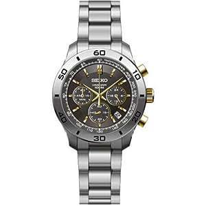 Seiko SSB057 - Reloj para hombres, correa de acero inoxidable color plateado