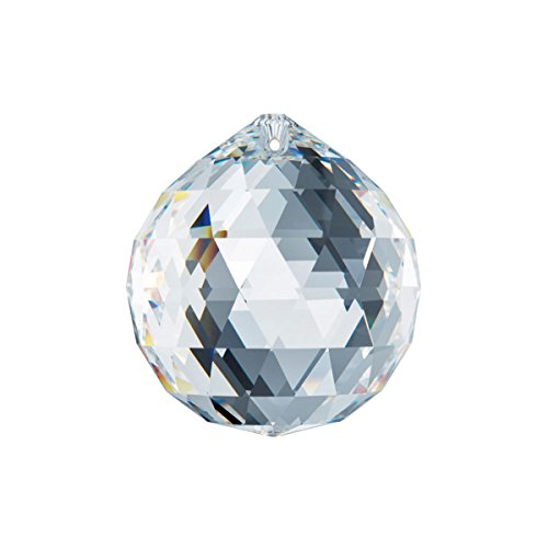 Leaded Austrian Crystal - Swarovski Spectra Crystal 40mm Clear Lead Free Feng Shui Crystal Ball Prism Made in Austria with Certificate