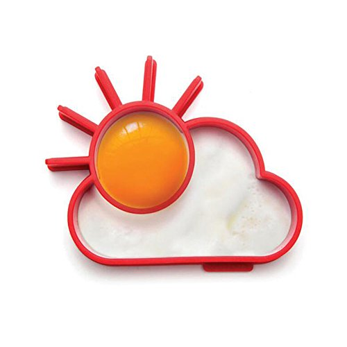 SPHTOEO Breakfast Silicone Fried Egg Mold Pancake Egg Ring Shaper (Sun & Cloud)