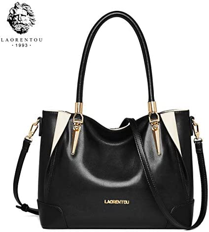 LAORENTOU Purse and Handbags for Women Cow Leather Shoulder Bags Mini Tote Bags Top-handle Purse Crocodile Pattern