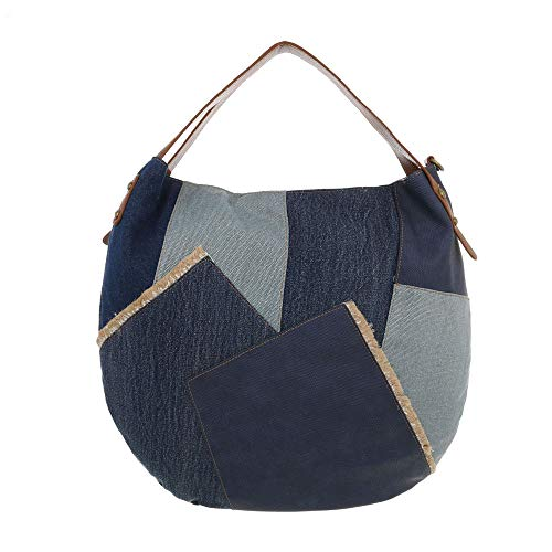de para hombro mujer Design Azul Lona Oscuro al Ital Bolso 1tIqY1