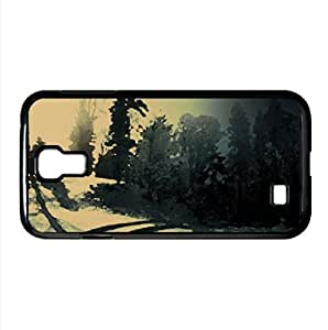 Car Tracks On The Snow Watercolor style Cover Samsung Galaxy S4 I9500 Case (Winter Watercolor style Cover Samsung Galaxy S4 I9500 Case)