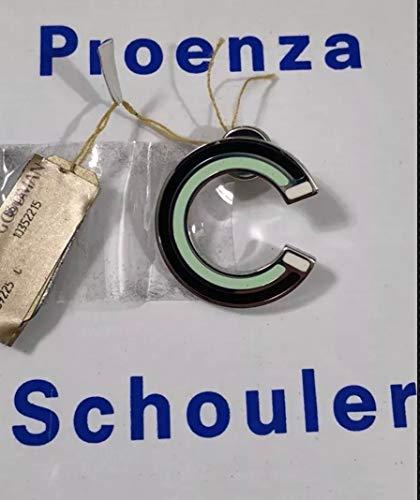 - PROENZA SCHOULER Men's MINT ENAMEL SILVER SOLID BRASS LAPEL PIN