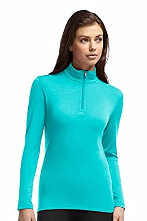 dd7b0316941 Icebreaker Women's Oasis Long Sleeve Half Zip Base Layer T-Shirt -  Turquoise/Aquamarine, X-Large: Amazon.co.uk: Sports & Outdoors