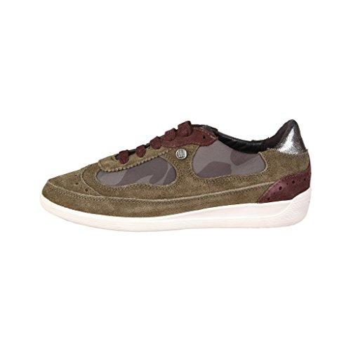 Geox d4468a022fu sneakers scamosciato mudcamouflage
