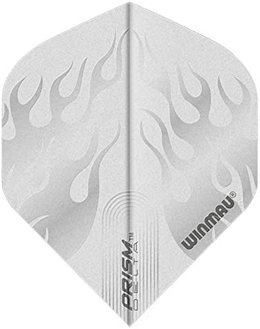 Winmau Prism Delta White Jeu de 3 ailettes ultra /épaisses pour fl/échettes