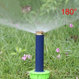 10 Pcs 1/2 Inch Inner Thread 90 180 360 Degree Popup Sprinklers Lawn Irrigation Gear Drive Sprinkler Garden Irrigation Supplies 180 degree ()