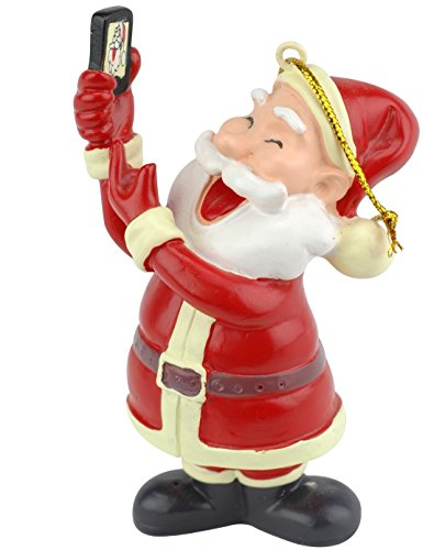 Tree Buddees Selfie Santa Claus Christmas Ornament ()