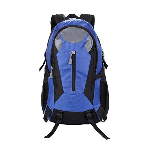 TUOZA Alpinismo Al Aire Libre De Los Hombres Mochila Viajes Combinados Y Los Deportes De Las Mujeres Mochila,Black-OneSize Blue