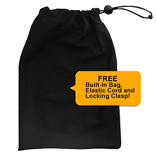 Piano Keyboard Dust Cover for 88 Keys - Piano Chord EBook Included - Made of Nylon / Spandex - Comes Complete with Built-In Bag, Elastic Cord and - Locking Clasp - Keep It Free From Dust and Dirt! by Clicks Depot (Image #3)