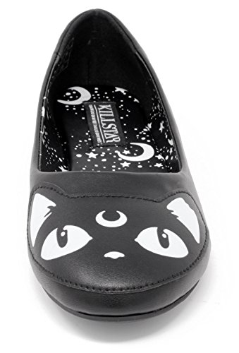 Ballerinas Kitty Black Flats Keiko Killstar 6z7acXqSAc